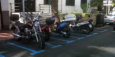 aparcar motos zona azul